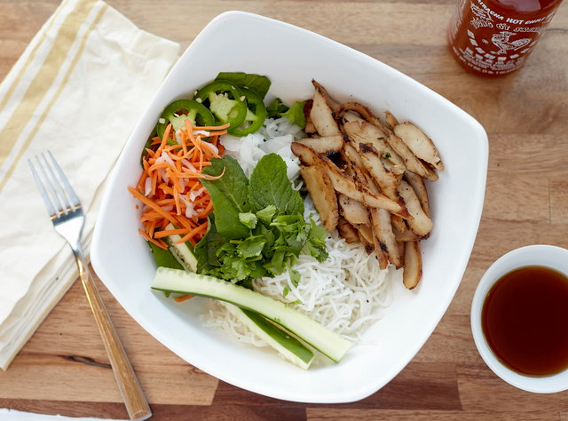 Chicken Vermicelli Bowl by Chef John Tran