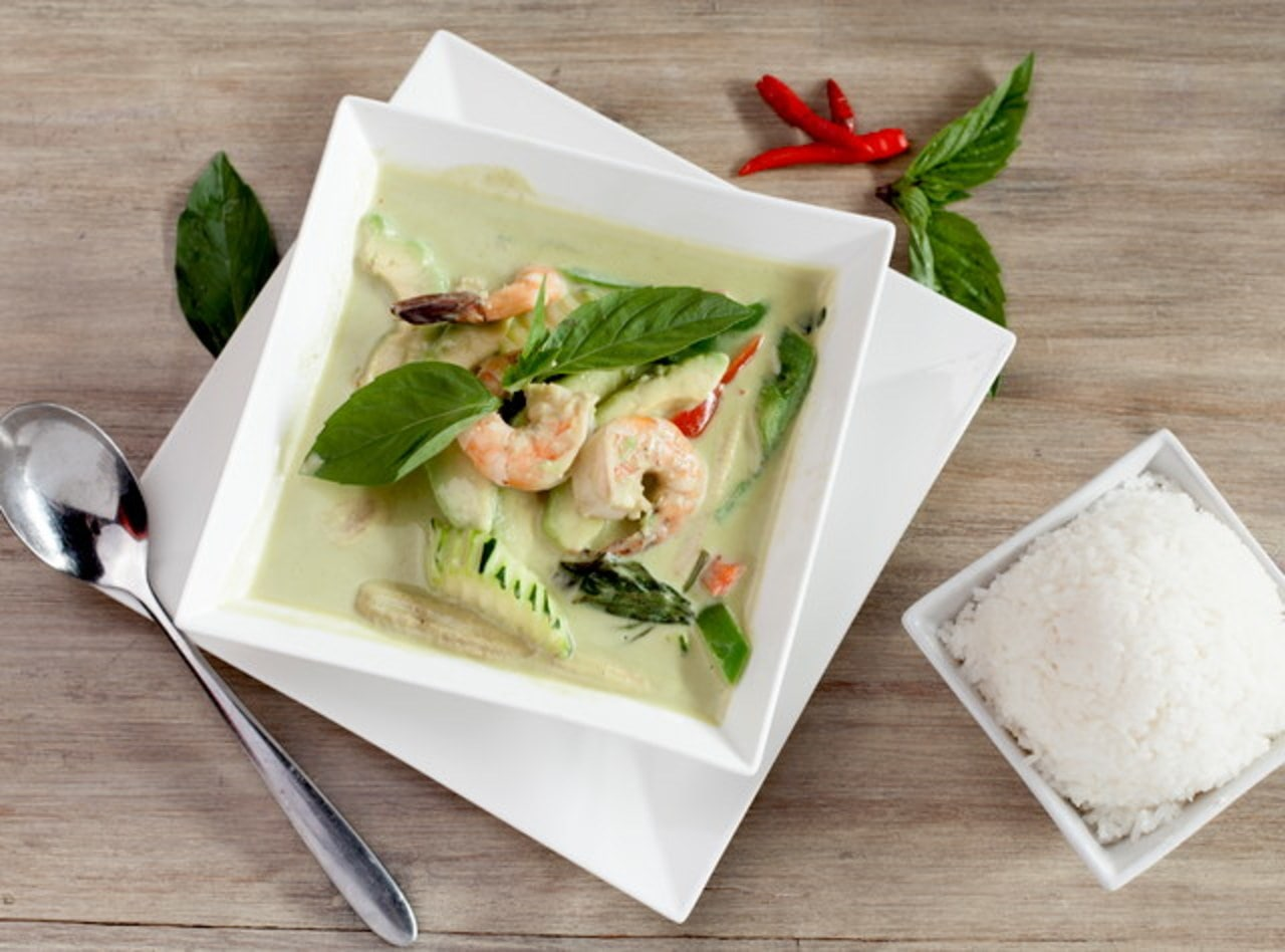 Prawn Avocado Curry Boxed Lunch by Chef Pik Kookarinrat