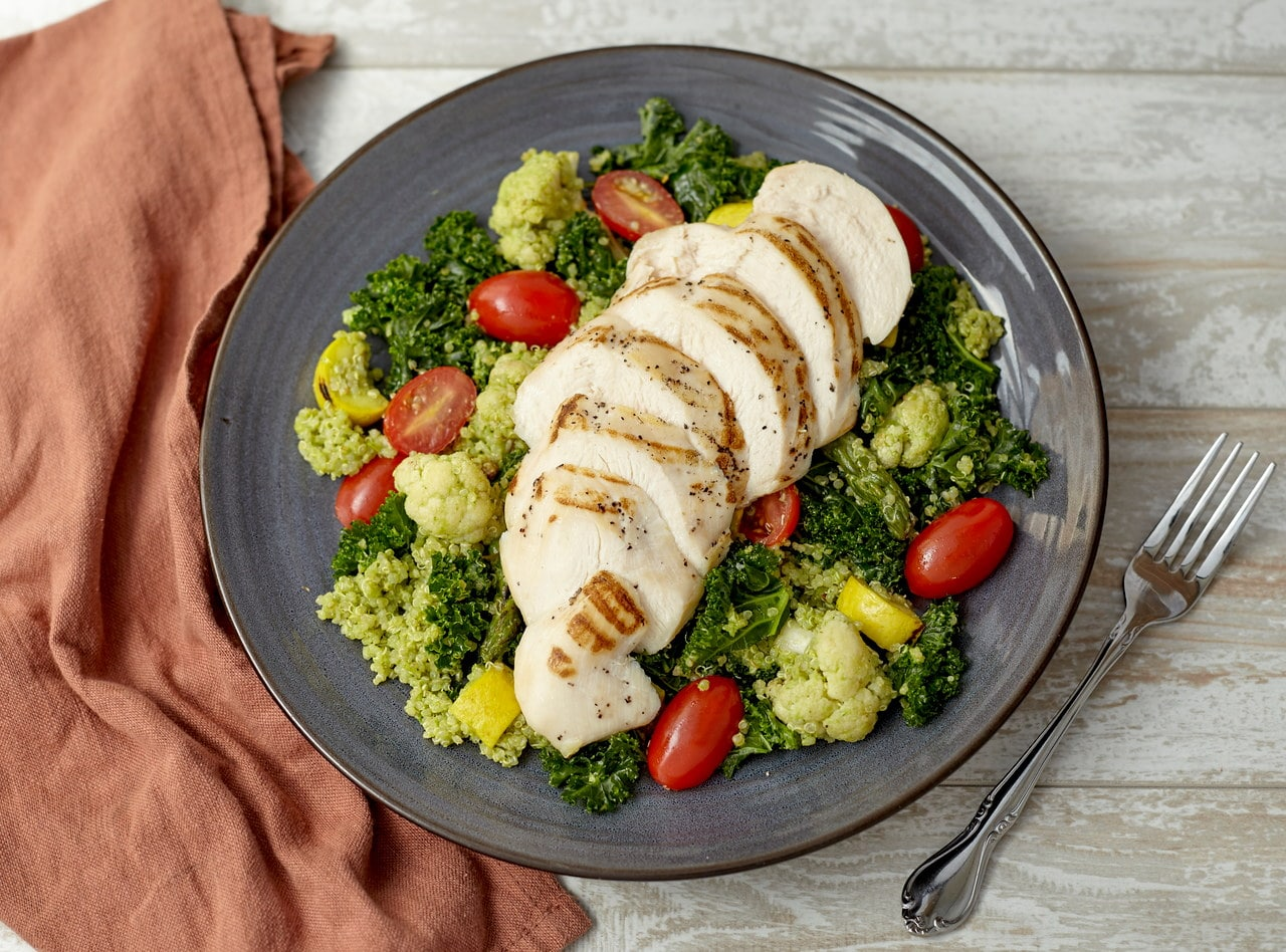 Grilled Chicken Breast and Quinoa Salad by Chef Guru Sigdel