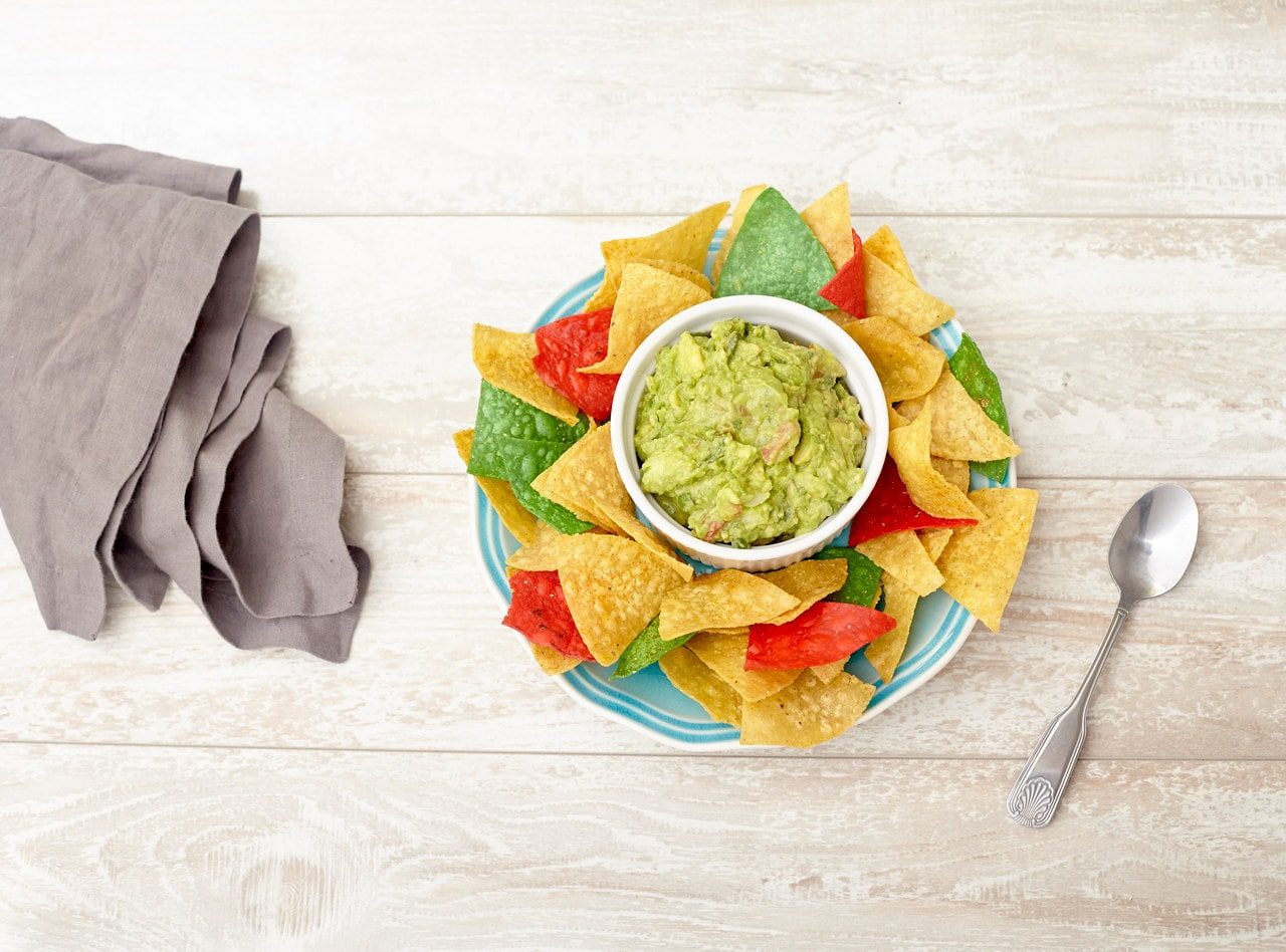 Guacamole and Tortilla Chips by Chefs Frankie & Edgar