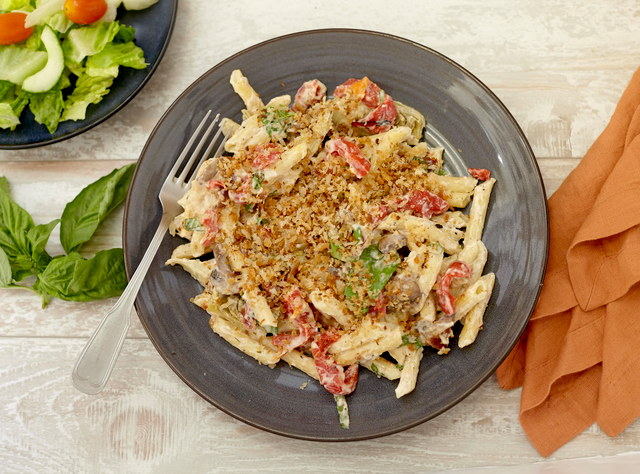 Antipasto Mac n Cheese with Chicken by Chef Jenn Strange