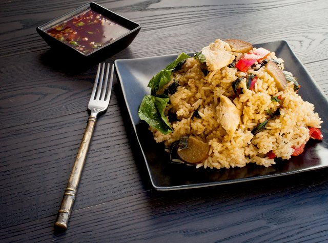 Green Curry Chicken Fried Rice by Chef Max Borthwick