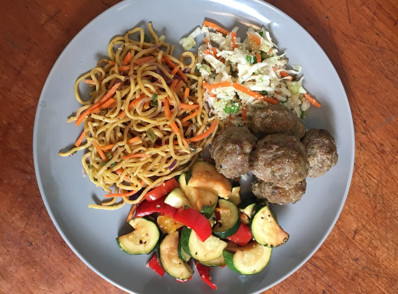 Ginger Soy Turkey Meatballs with Chow Mein by Chef John Tran - SMC