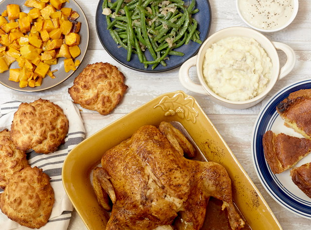 Southern Thanksgiving Roast Chicken Dinner for 4 by Chef Katie Cox