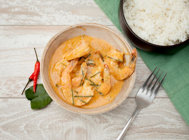 Panang Curry with Shrimp by Chef Tanya Jirapol
