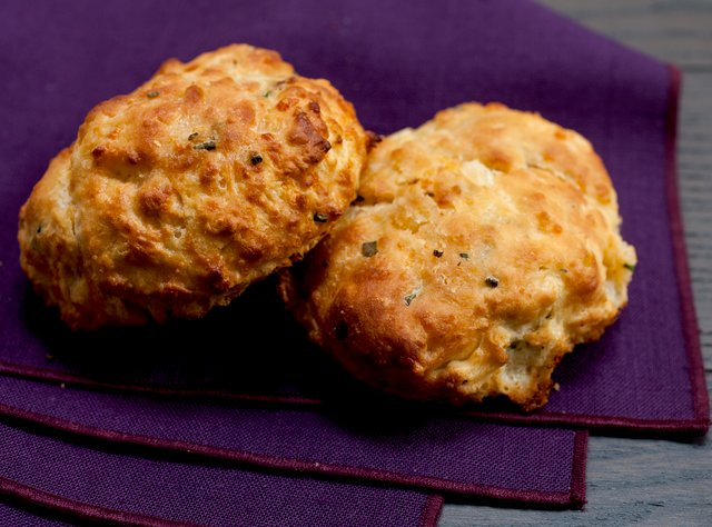 Cheddar Chive Buttermilk Biscuits by Chef Katie Cox