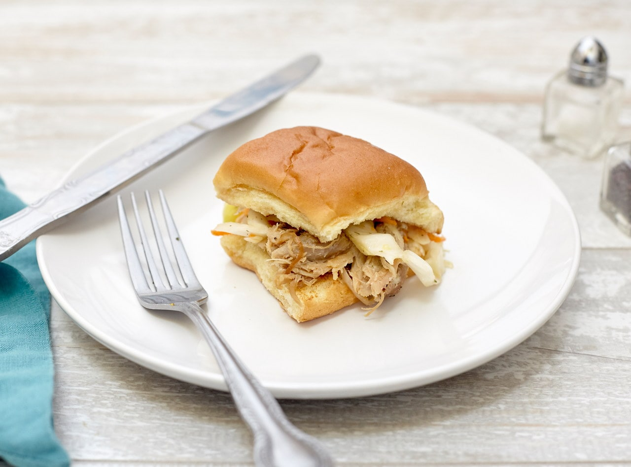 Pulled Pork Sliders with Dill Slaw by Chef Annie Koski-Karell