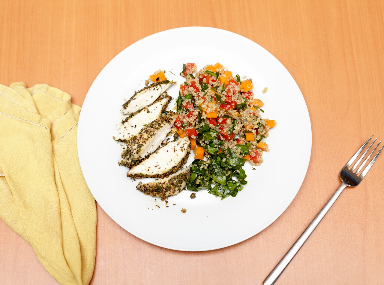 Lemon Fennel Chicken with Quinoa Salad by Chef Jesse & Ripe Catering Team
