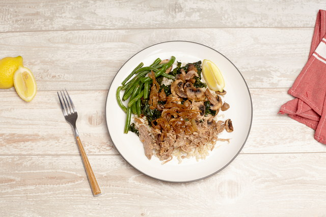 Earthy Pork and Vegetable Rice Bowl by Chef Katie Cox