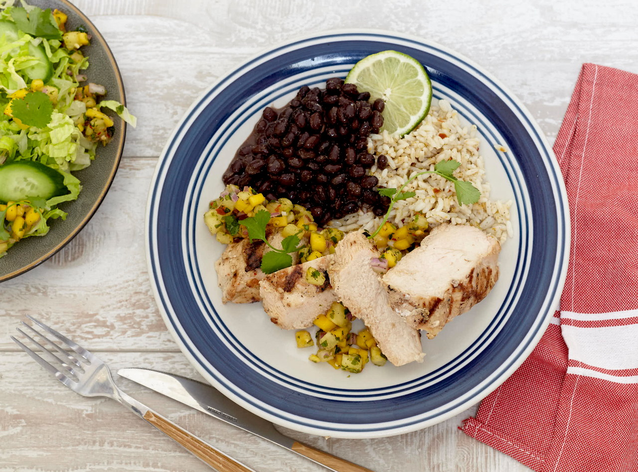 Mojo Chicken with Tropical Salsa by Chef Jenn Strange