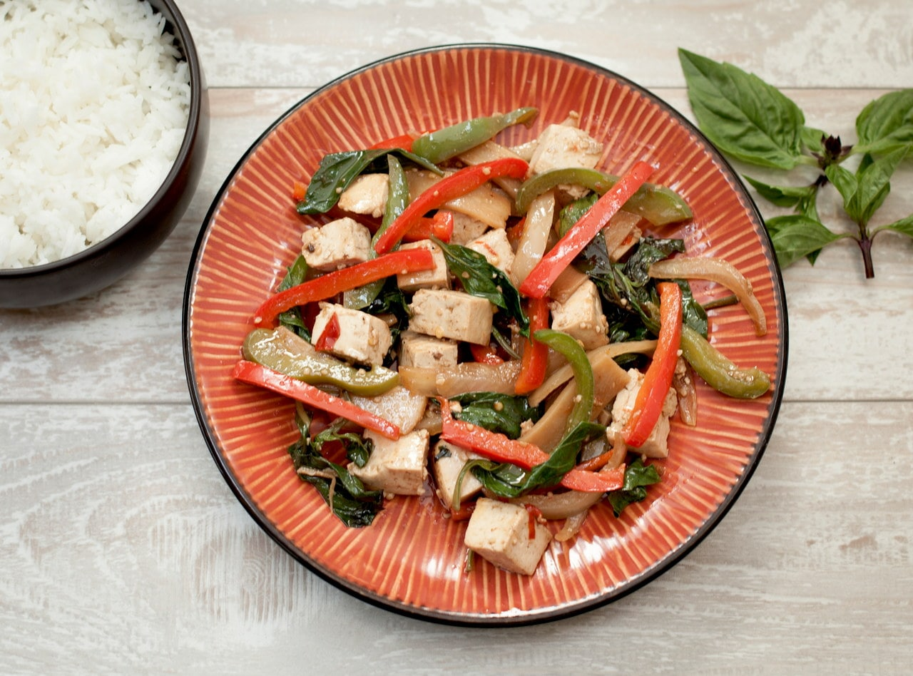 Thai Basil Tofu by Chef Tanya Jirapol