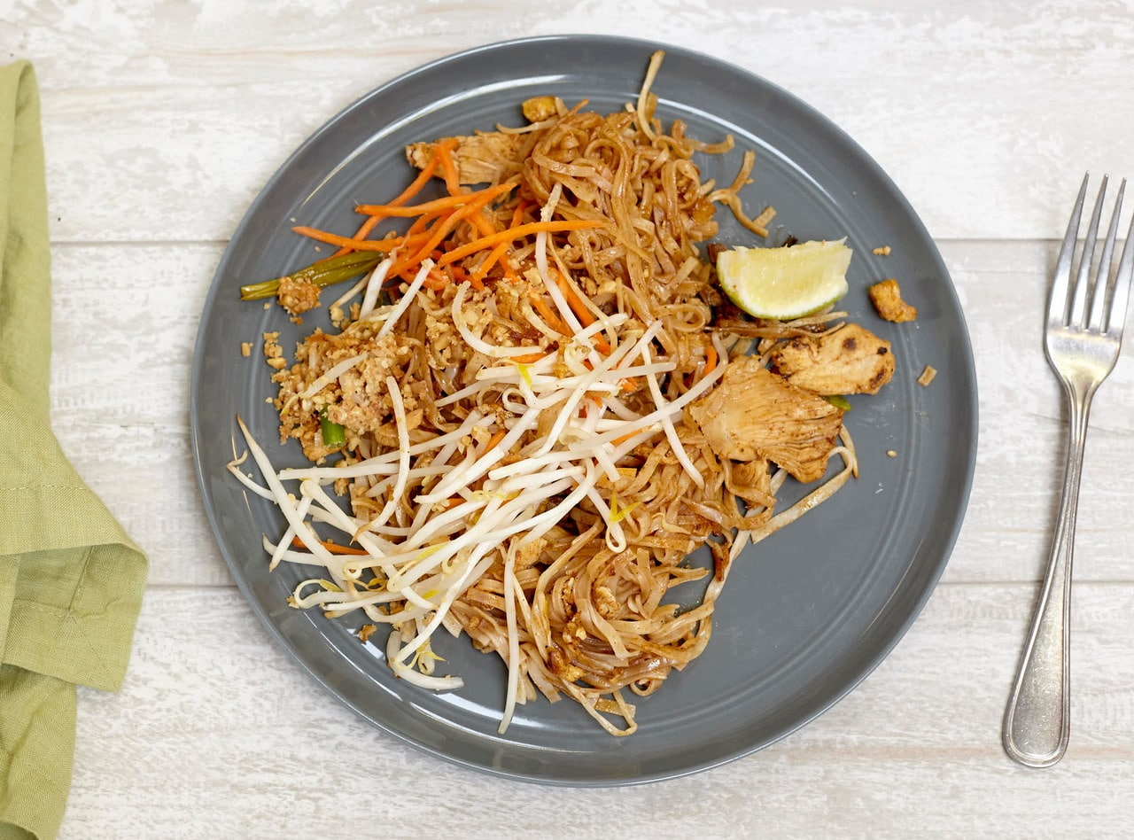 Chicken Phad Thai Boxed Lunch by Chef Pik Kookarinrat