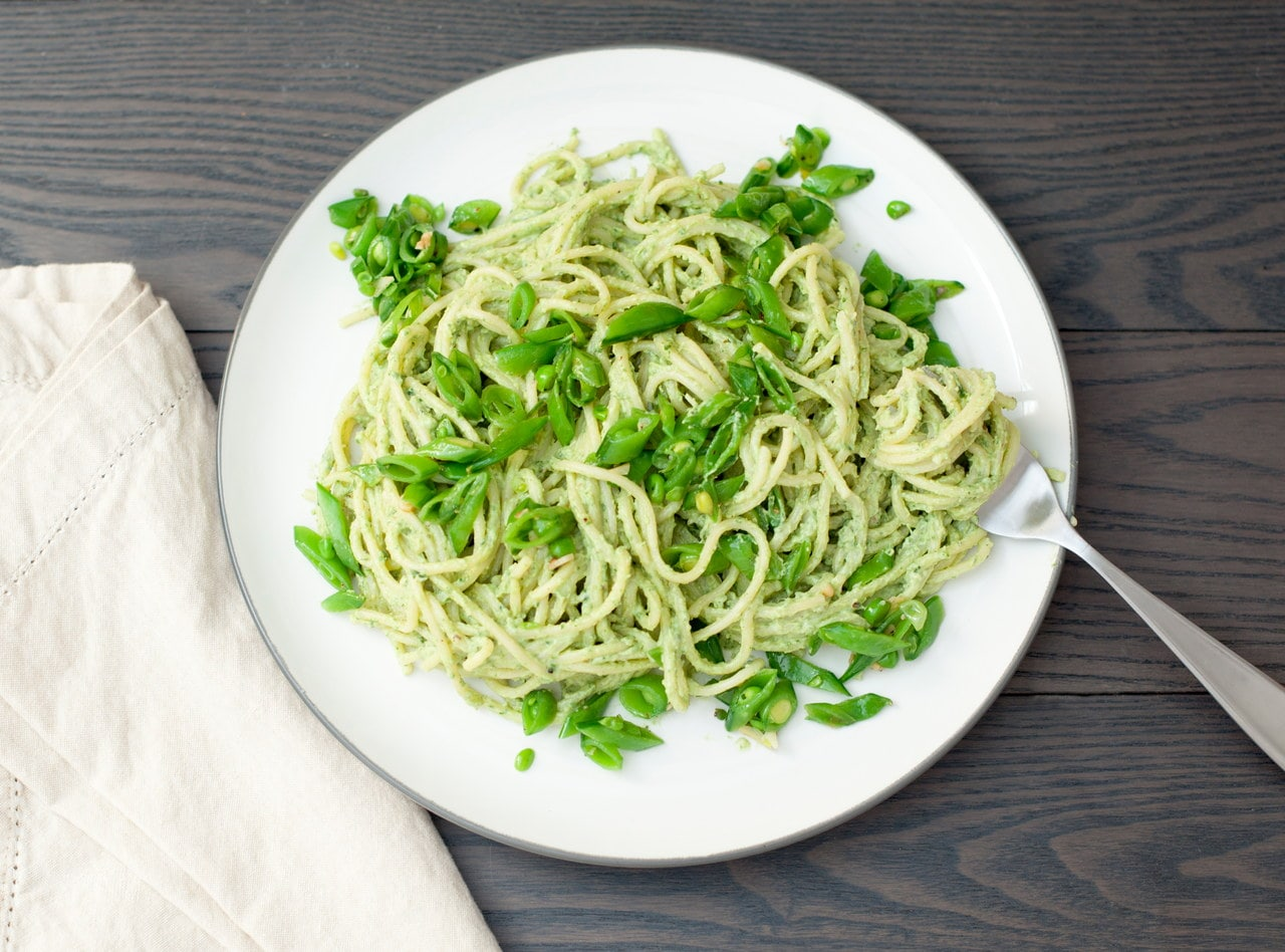 Hazelnut Pesto Spaghetti by Chef Jasmin Bell