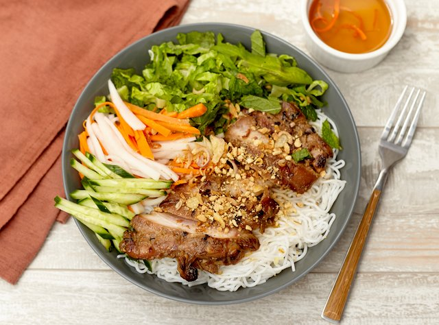 Vietnamese Vermicelli Noodles with Chicken by Chef Tanya Jirapol