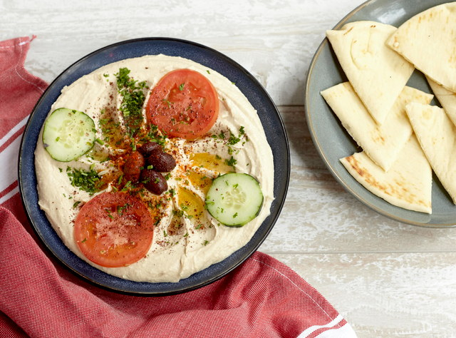 Hummus and Pita by Chef Khal Beleh