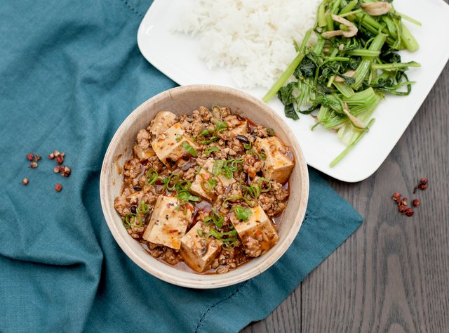 Mapo Tofu with Ground Pork by Chef Steve Shafer