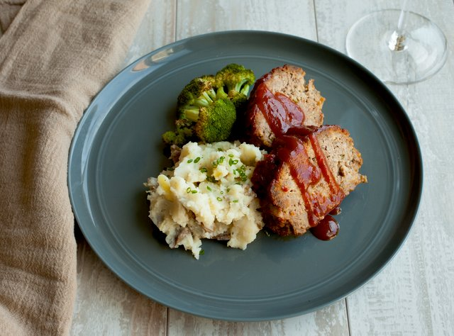 BBQ Tofu with Mashed Potatoes and Broccoli by Chef Katie Cox