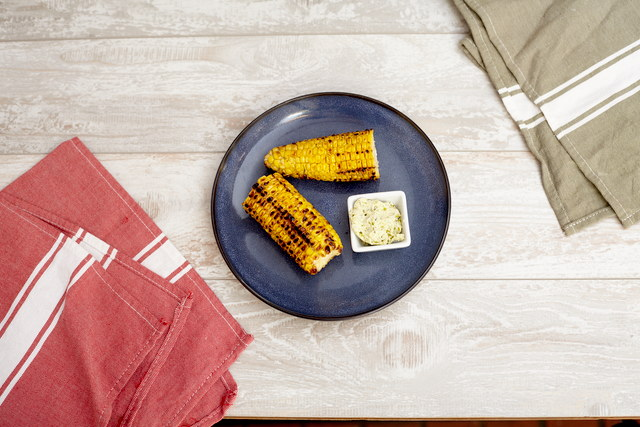 Corn on the Cob with Roasted Chili Butter by Chef Steve Shafer