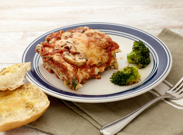 Rustic Mushroom Lasagna	with Green Beans by Chef Katie Cox