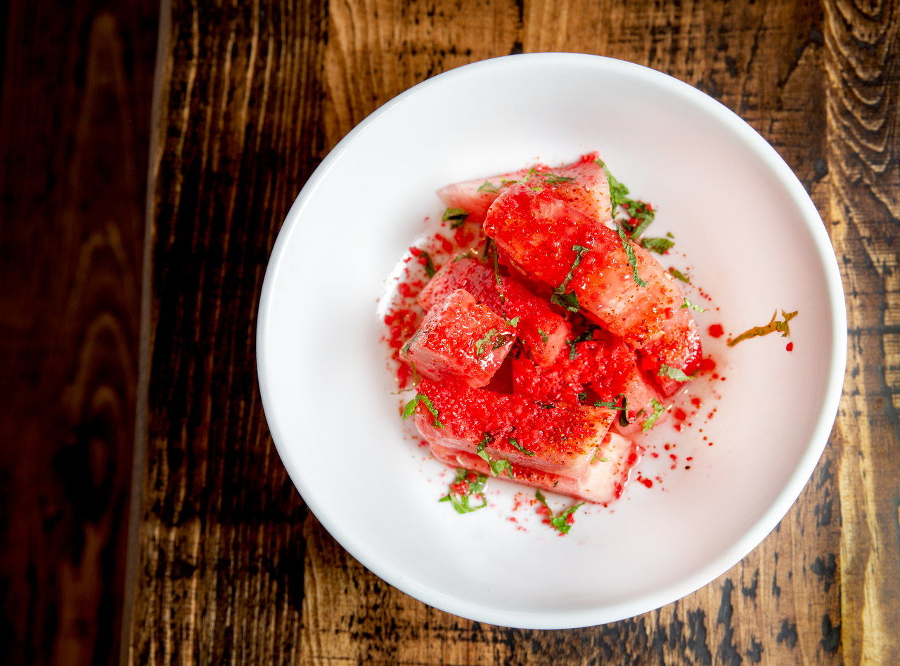 Chilled Watermelon Salad by Chef Ethan Stowell (SB)