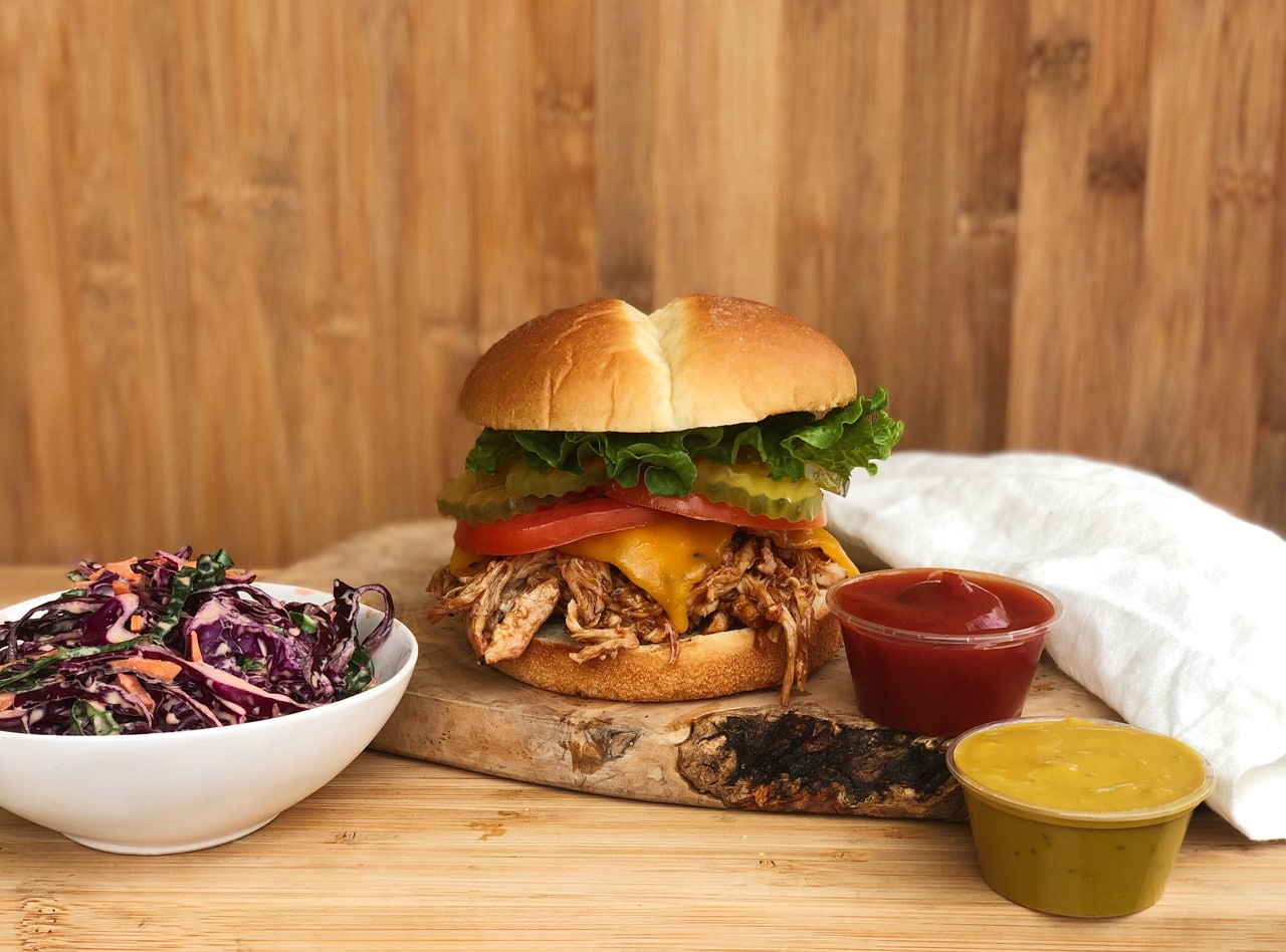 BBQ Pulled Chicken Sandwich Meal by Chef Matthew Hunt